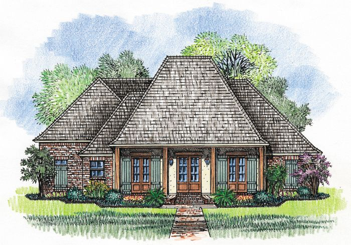 plan 56353sm: separate guest wing | architectural design house plans