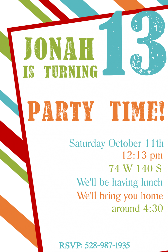 Free Printable Birthday Invitation Templates | Party invitation ...