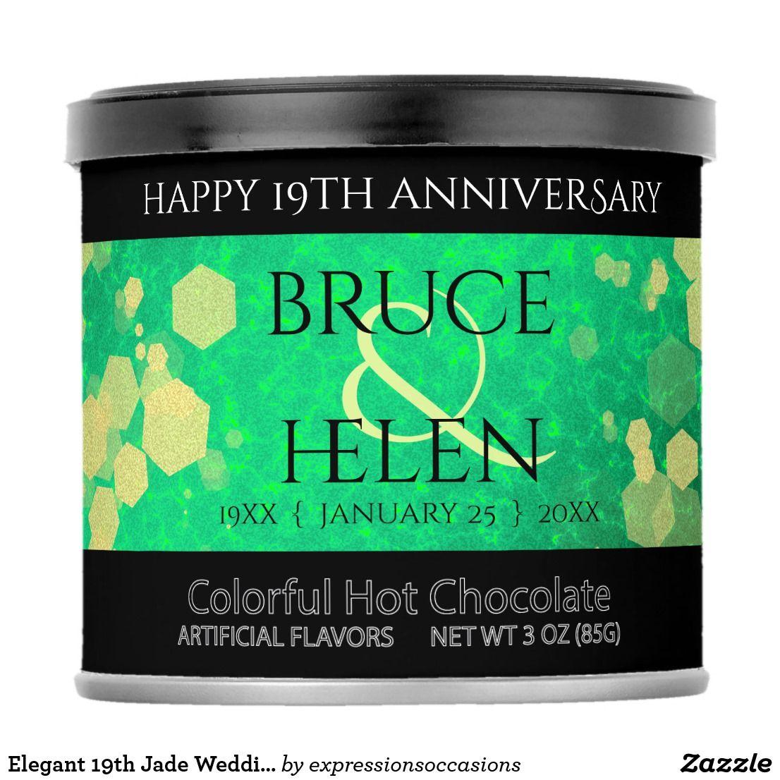 Elegant 19th Jade Wedding Anniversary Green Hot Chocolate