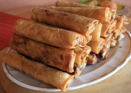 Pedia´s Crunchy Spring Rolls. Ready to be eaten.