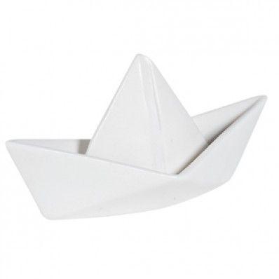 bateau style origami blanc c ramique jardin d 39 ulysse vente objets d co de d co blanc. Black Bedroom Furniture Sets. Home Design Ideas