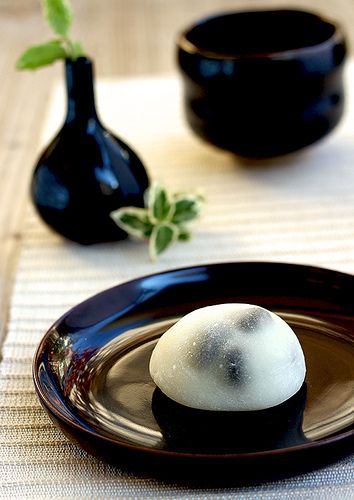 Japanese Sweets, Kuro Mame Daifuku Mochi