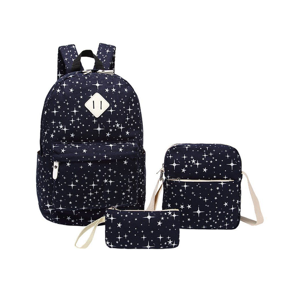inwagui modische schulrucksack canvas schultaschen damen m dchen extra gro kinderrucksack. Black Bedroom Furniture Sets. Home Design Ideas