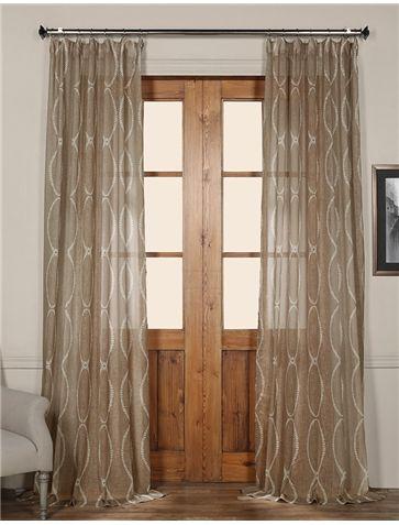 Grecian Taupe Printed Sheer Curtain Half Price Drapes Curtains
