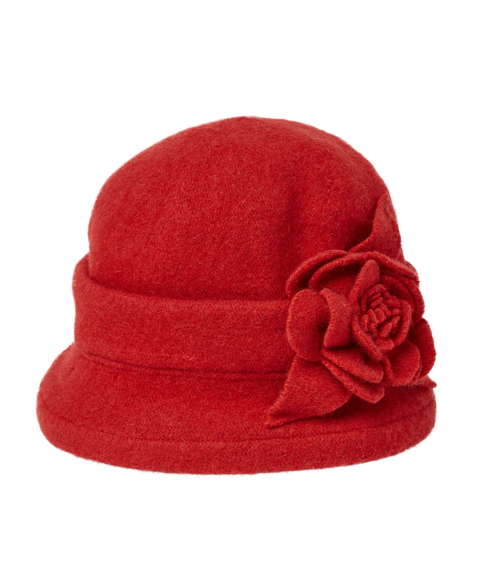d2589fc90abf4 Holly Cloche Hat Vintage elegance has never been so easy. This warm wool  cloche hat is simply stunning with a charming flower corsage.