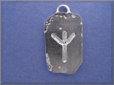 Gallen Protection symbol Celtic Wicca charm pendant pewter jewelry