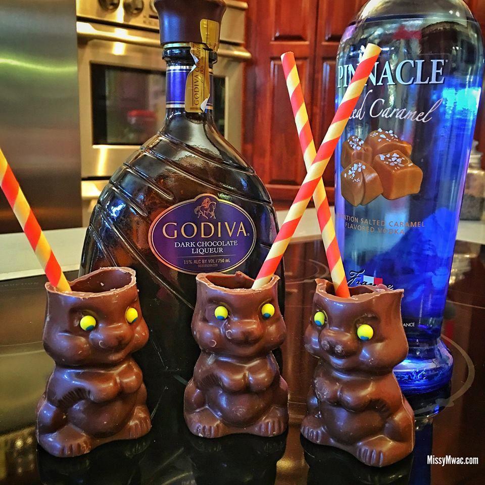 RECIPE: 1 Shot Godiva Dark Chocolate Liqueur 1 Shot Salted