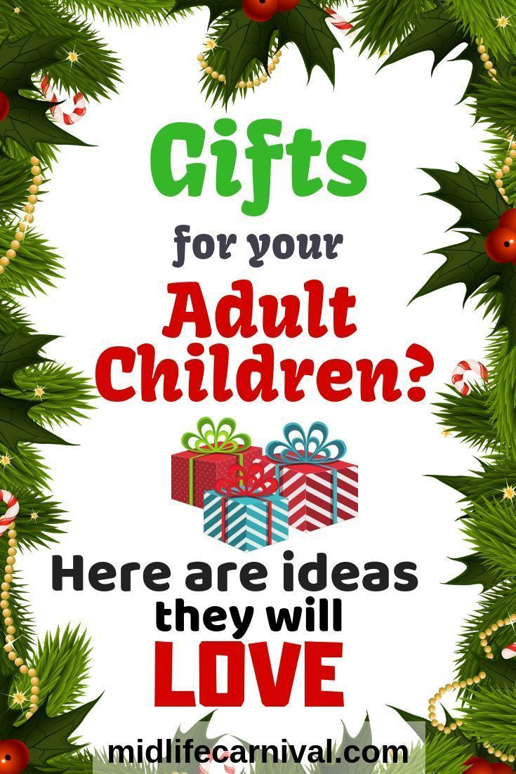 Awesome Gift Ideas For Your Adult Children Young Adult