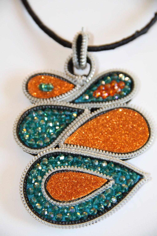 Christmas Gift   Orange and Green Jewlery   Fashon Necklace   Gift ...