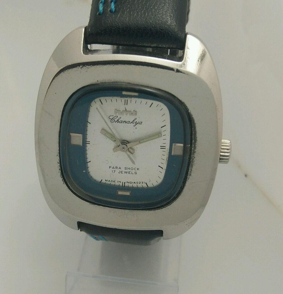 HMT Chanakya Silver Mechanical 17 Jewels Men s wristwatch Vintage Collectible