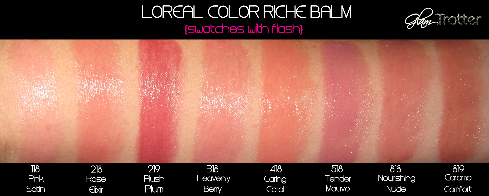 Loreal color caresse by color rich lipstick - L Oreal Color Riche Balm Swatches Review Glamtrotter Com Beauty And