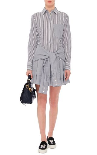 6413e9610530 Cotton Striped Tie Waist Shirtdress by DEREK LAM 10 CROSBY Now Available on  Moda Operandi