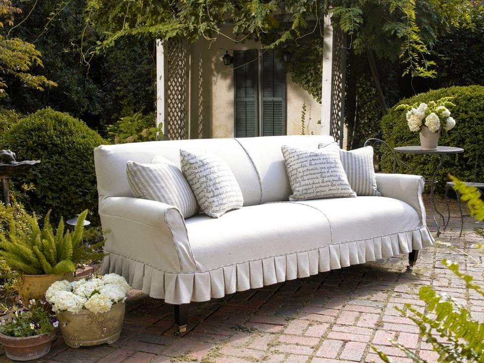 The Dylan Slipcover Sofa By Robin Bruce.