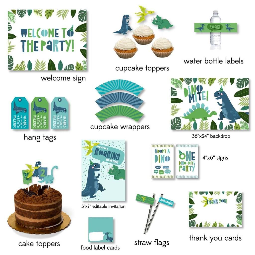 Dinosaur Party Printable Pack