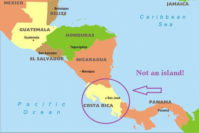 Important Facts About Costa Rica Costa Rica Central America And - Map of costa rica central america