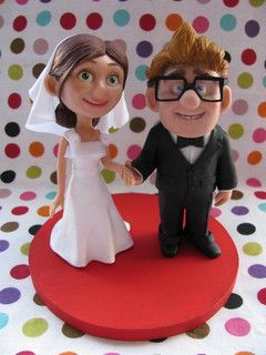 Check Out These Adorable Cake Toppers It Would Be Perfect For An Up Themed Wedding Carl Ellie Fredricksen By Patricia Tiyemi