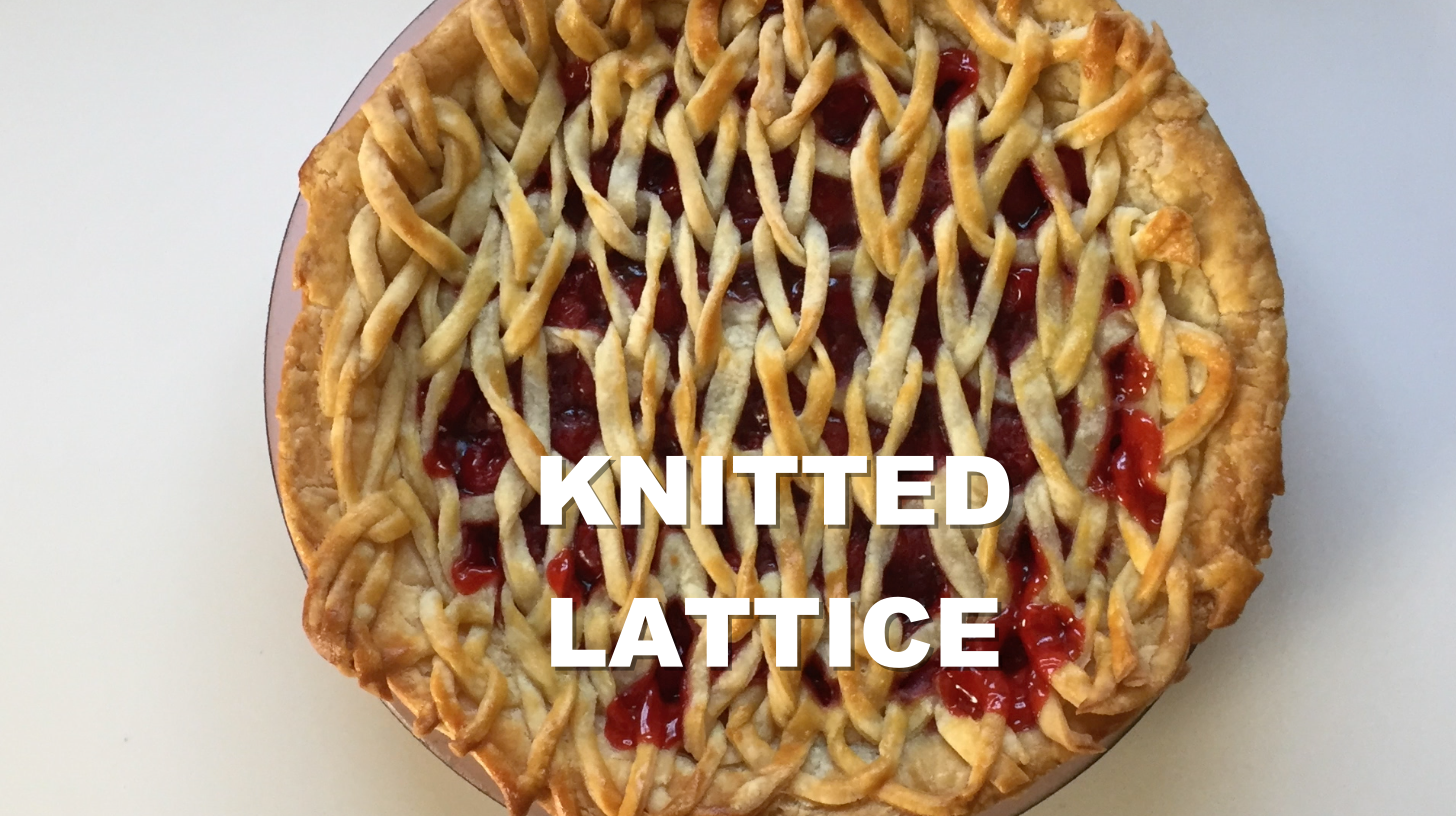 Knitted lattice from a dough (With images) Homemade pie