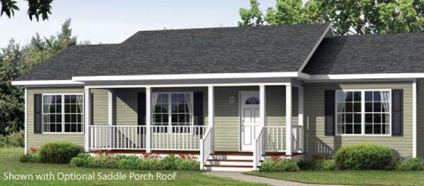 The Alamance I Modular Home Floor Plan Saddle Roof Porch