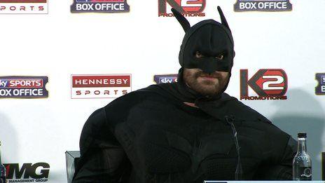 Boxer Fury's bizarre Batman entrance