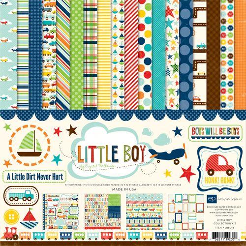 Echo Park Little Boy Collection 12 X 12 Collection Kit Echo