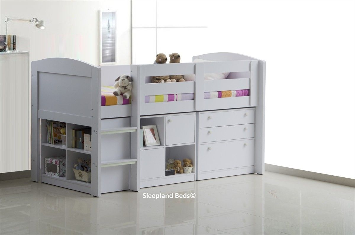 Neptune Childrens Beds With Storage White Mid Sleeper Bed