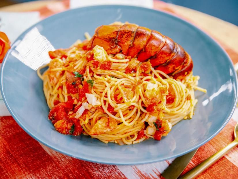 Spicy Lobster Pasta Recipe In 2020 Lobster Pasta Lobster Pasta Recipe Food Network Recipes