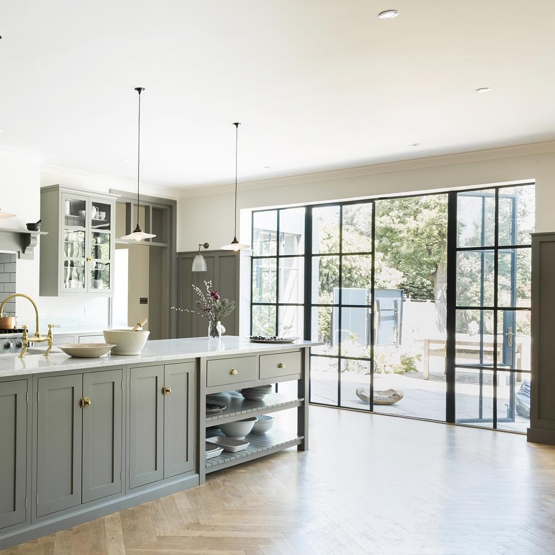 Kitchen window kerala  the queens park kitchen by devol features beautiful big crittall