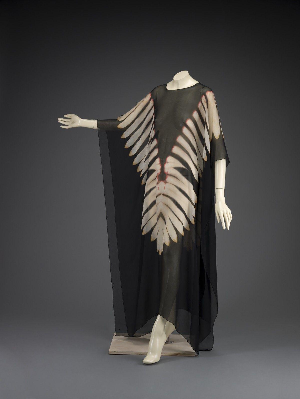 1971, America - Evening dress by Halston - Silk chiffon, tie-dyed
