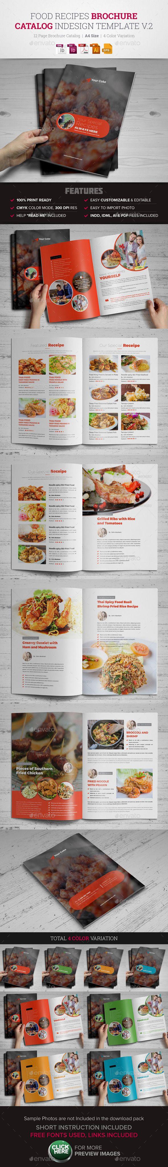 Food recipes brochure catalog indesign v2 composicin y restaurante food recipes brochure catalog indesign tempalte design download httpgraphicriver forumfinder Image collections