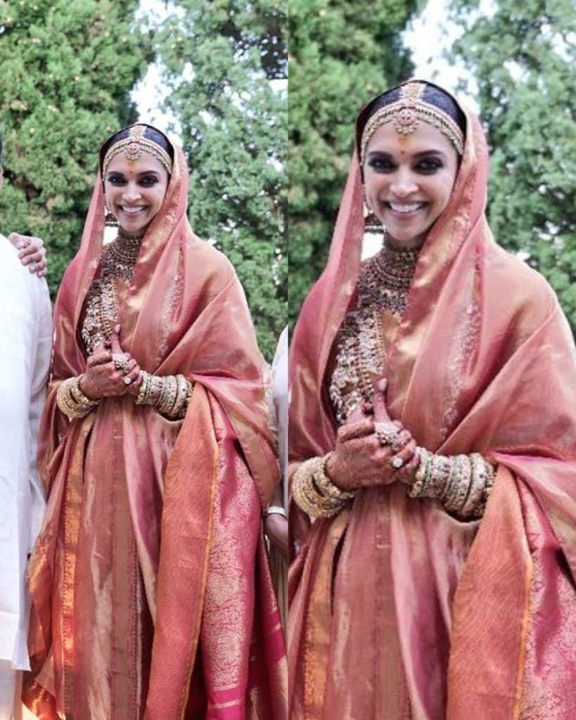Thank You So Much For This Photo Yesterday I Was Thinking About Her Konkani Wedding Look Today Peach Wedding Dress Bridal Fashion Week Deepika Padukone