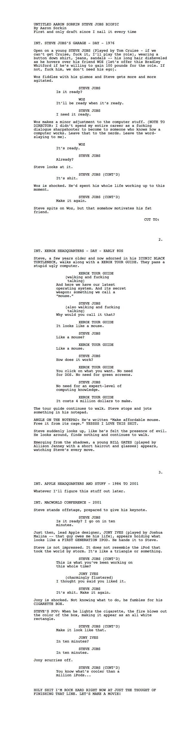 The First Few Pages Of Aaron Sorkin S Steve Jobs Biopic Prefixes Good Communication Skills Prefix Worksheet [ 2466 x 640 Pixel ]