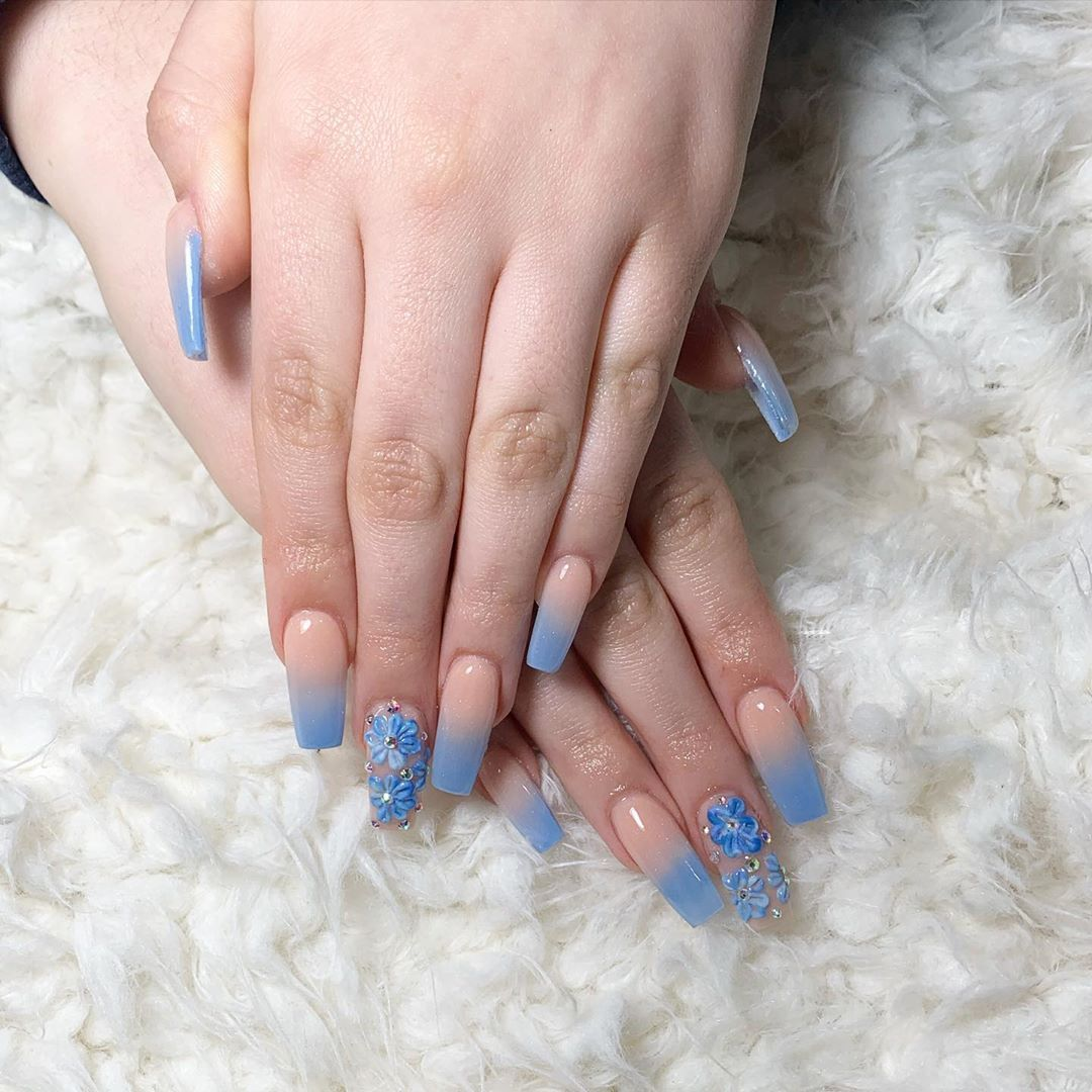 35 Trendy Blue Color Nails Will Inspire You In 2020 Page 6 Of 8