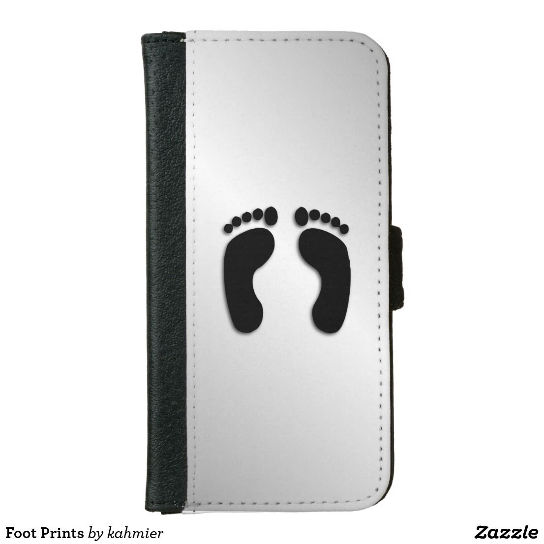 Foot Prints Wallet Phone Case For iPhone 6/6s