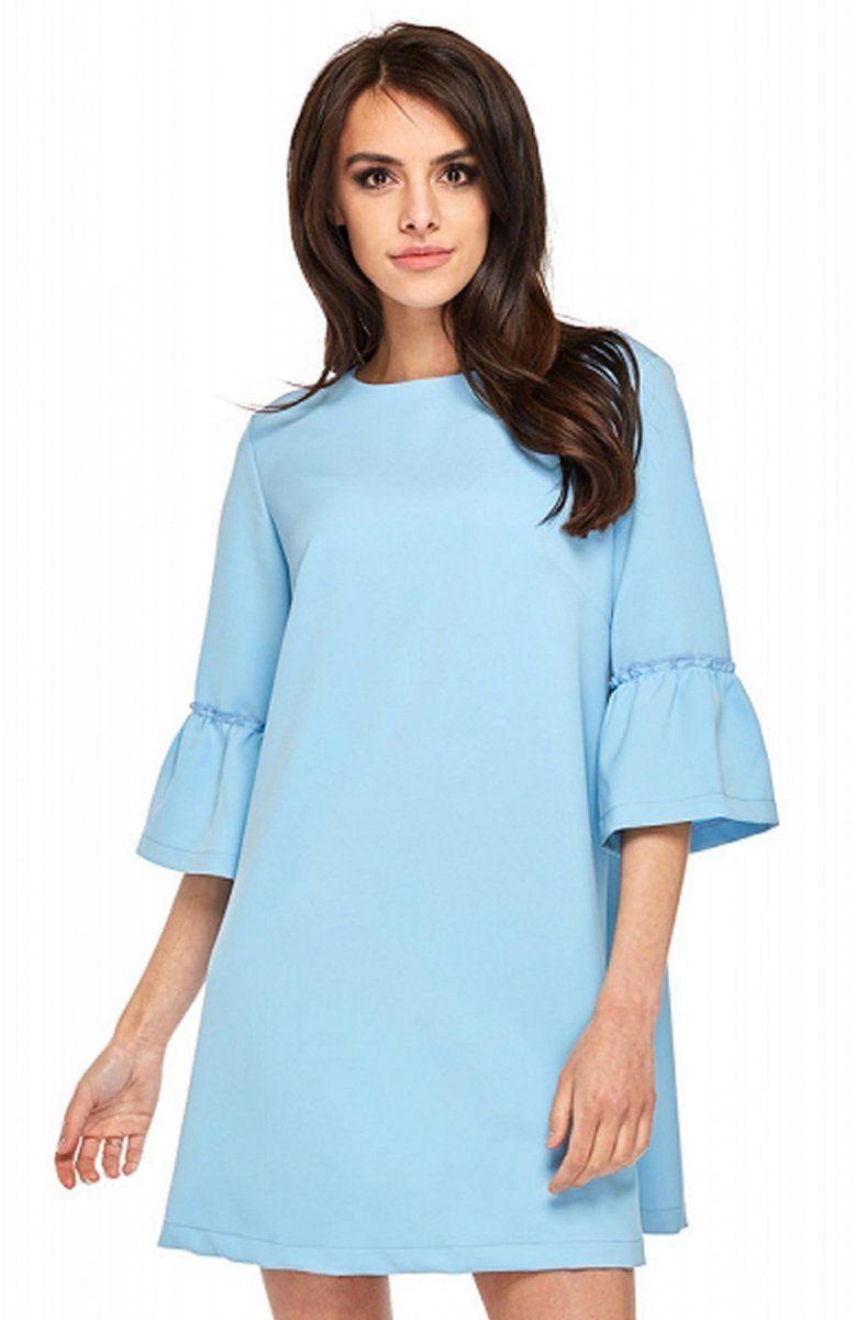 e524491f Ooh la la Roma sukienka niebieska - Sukienki do pracy - Sukienki ...
