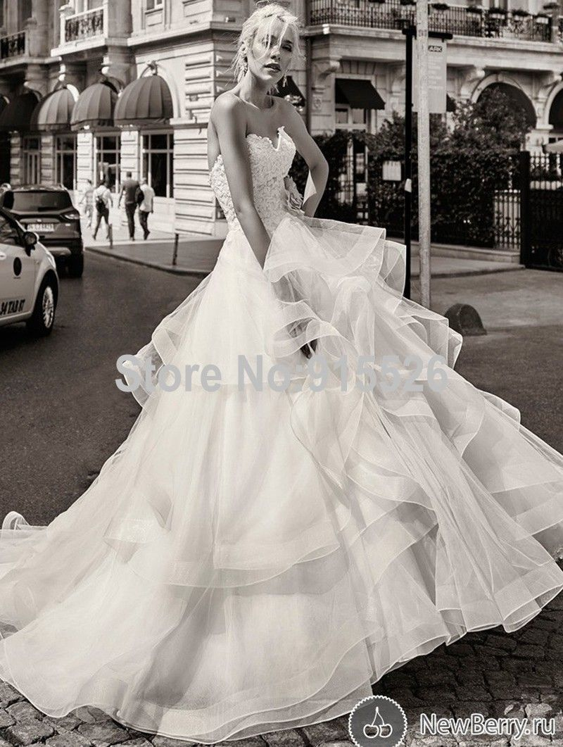 Click To Ball Gown Sweetheart Russian Wedding Dresses Sweep Train Tulle