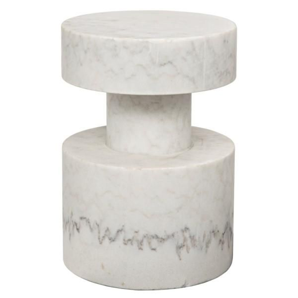 Ramiah Side Table, White Stone is part of Home Accessories Styling Side Tables - For more than ten years, Intrustic has been designing, building and importing their very unique, and ever growing collection of home furnishings and today is one of the most exciting lines on the market  Their collections emphasize natural, simple and classic designs and are made the old fashioned way using