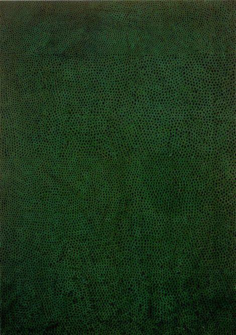 Yayoi Kusama, No. Green No. 1 on ArtStack #yayoi-kusama-cao-jian-mi-sheng #art