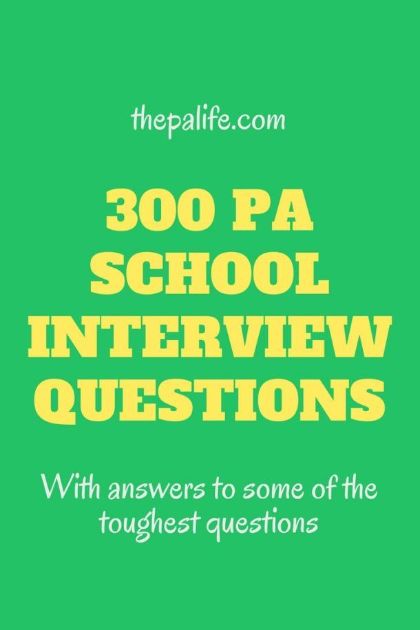 300 PA School Interview Questions You Should Be Ready to ...