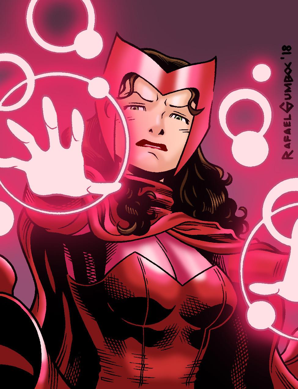 Artstation Scarlet Witch Practice Digital Colors Rafael Gumboc In 2020 Scarlet Witch Comic Scarlet Witch Avengers Drawings