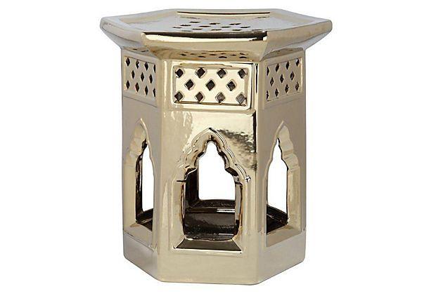 Pleasing Katelyn Ceramic Garden Stool Gold On Onekingslane Com Machost Co Dining Chair Design Ideas Machostcouk