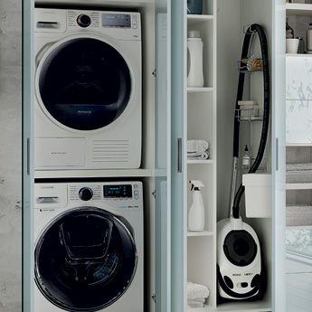 Armadi ripostiglio per spazio lavanderia scavolini for Armadi per piccoli spazi