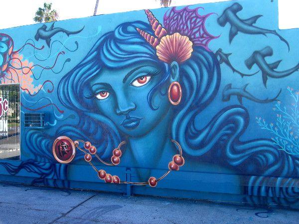 Beautiful new ocean mural at PB Water Store. Ocean mural