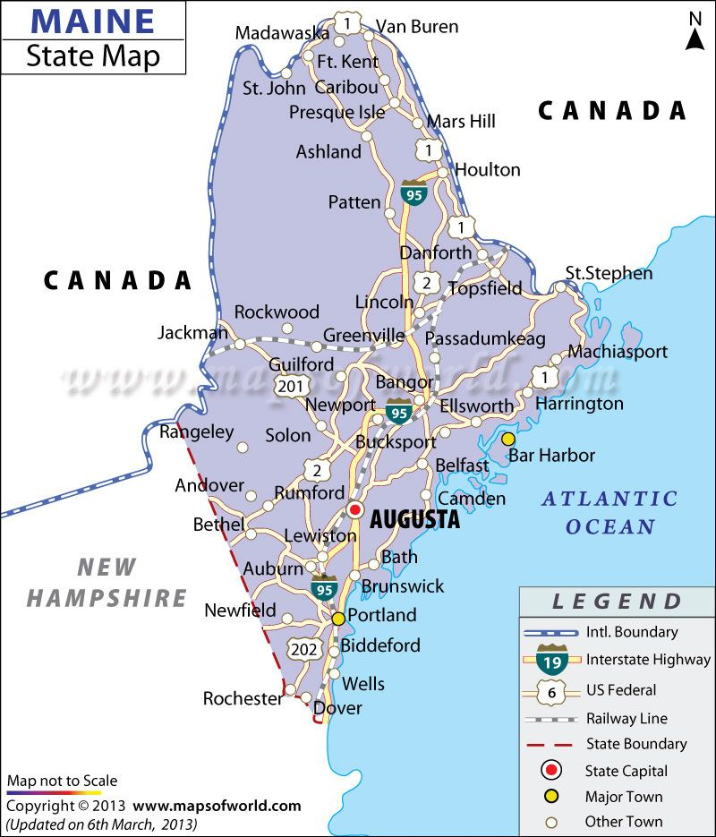 Map of Maine | Cool Facts | Maine, Rockland maine, Visit maine