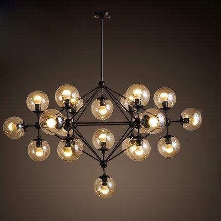 Creative verre pendentif lampe led MODO lustre Salle À Manger ADN de - lustres salle a manger