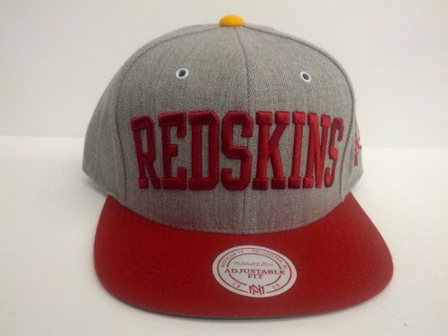 cef016e1816 Mitchell and Ness NFL Washington Redskins Heather Arch Snapback Cap by  Mitchell   Ness.  25.50