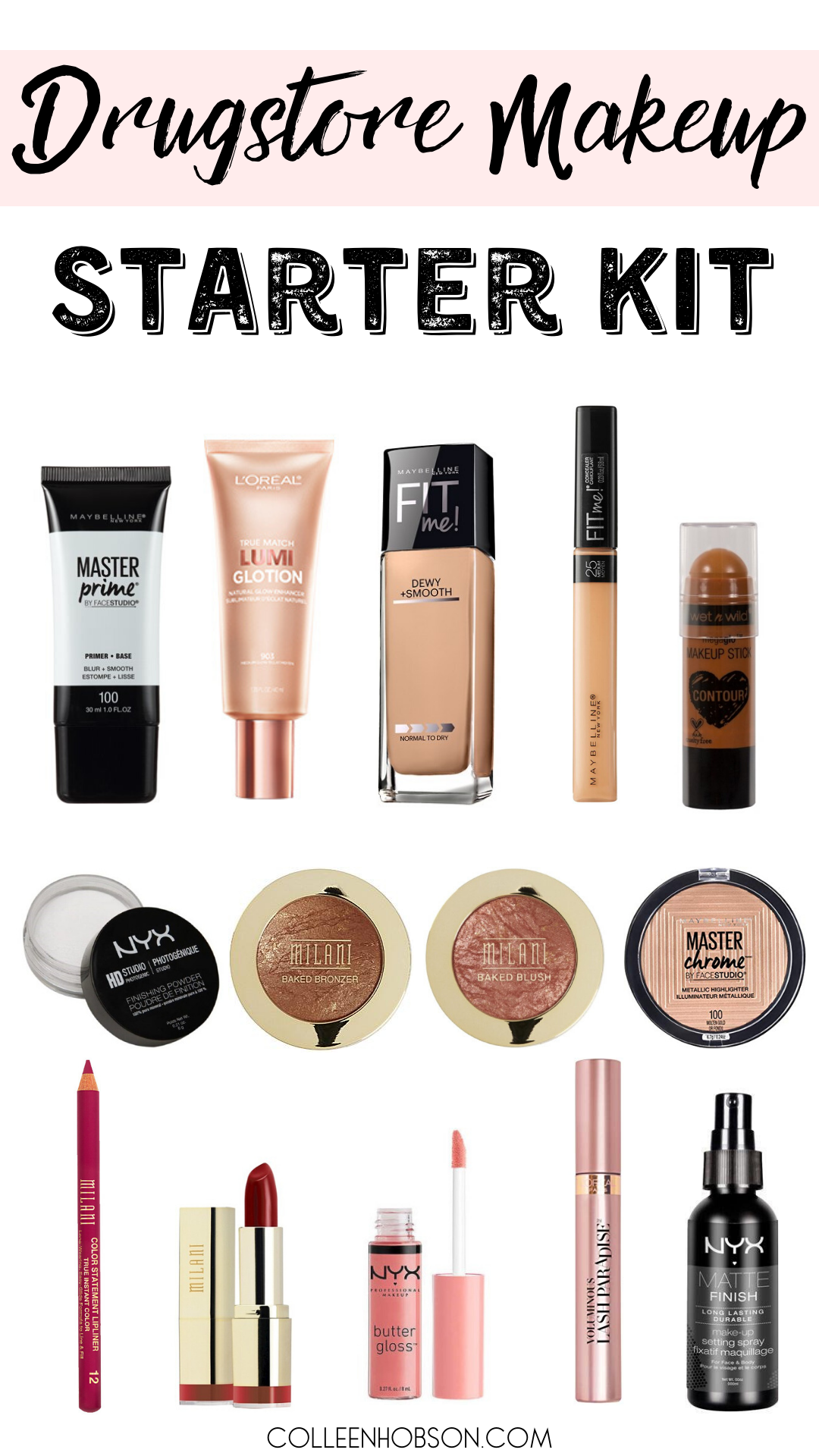 Drugstore Makeup Starter Kit For Beginners Makeup