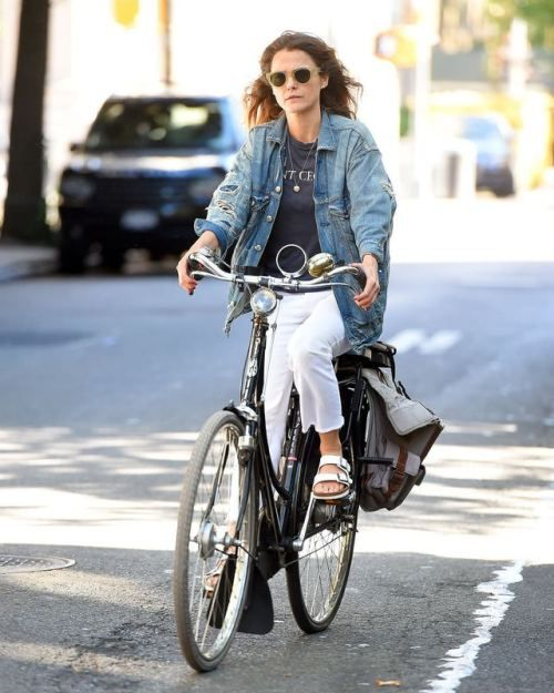 """Coffeestainedcashmere: """"""""keri Russell Out In New York City"""