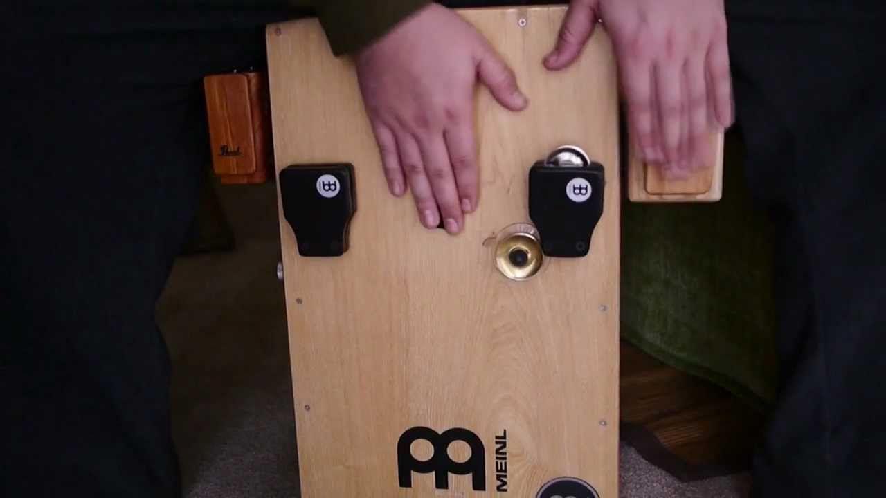 Cajon Accessories Demo - cajon jingles, woodblock, clave block, castanet...