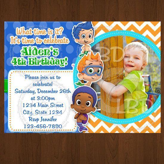 bubble birthday invitations Bubble Guppies Invitation Bubble