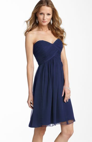 Donna Morgan Strapless Silk Chiffon Dress | Nordstrom. Wonderful ...